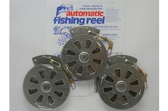 3 Mechanical Fisher's Yo-Yo Automatic Fishing Reels - Package of 3 Reels - Yoyo Fish Trap -
