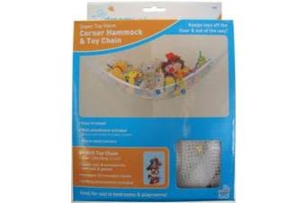 Dreambaby Corner Hammock with Toy Chain (White)