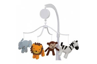 (1, HTMERIC) - Bedtime Originals by Lambs & Ivy Jungle Buddies Musical Mobile, Brown