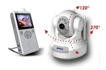 4UCAM PAN / TILT Handheld 6.4cm Colour Video Baby Monitor and 2.4GHz Wireless Camera - Day & Night, Video & Audio Infant Nursery Monitor