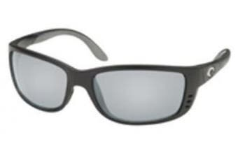 (frame  black/lens  silvermirror, 580g) - Costa Del Mar Sunglasses - Zane- Glass / Frame: Shiny Black Lens: Polarised Silver Mirror Wave 580 Glass