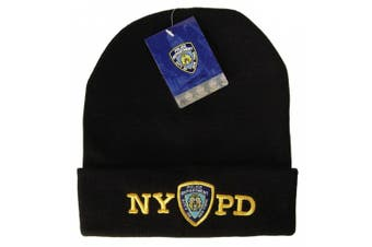 NYPD Winter Hat Beanie Skull Cap Officially Licenced by The New York City Police Department