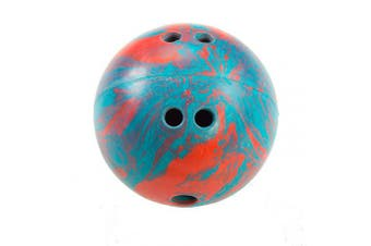 (Teal/Red - 2.5 Pounds) - Cramer Cosom Bowling Balls, with Extra Finger Holes, for Elementary School Physical Education, Special Needs, Youth Party Game, Rubberized Bowling Ball, Kids Bowling Ball, 2.3kg, Gold Glitter