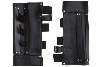 BladesUSA YC-709 Martial Arts Arm Cuff with Metal Spikes, Black, 24cm Length
