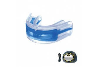Brain-Pad LoPro+ Double Laminated Strap/Strapless YOUTH Mouthguard (Blue/Clear)