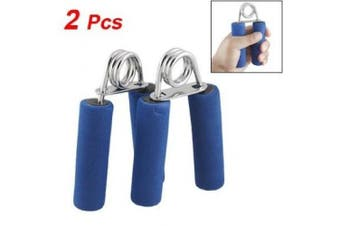 Como Pair Blue Foam Coated Handle Hand Grips Exercise Tool