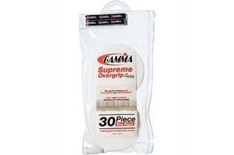 (Supreme, Roll of 30, White) - Gamma Supreme Overgrip Pro Pack, White