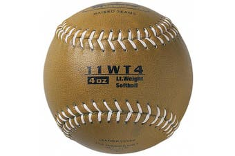 (4) - Markwort Colour Coded Weighted 27.9cm Softball (4-Ounce, Gold)