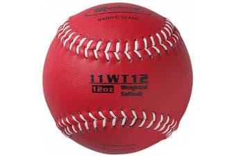 Markwort Colour Coded Weighted 27.9cm Softball (12-Ounce, Maroon)