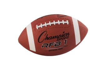 (11.5) - Rubber Sports Ball, Football, Official NFL, No. 9, Brown