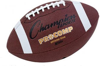 (Official Size) - Champion Sports Pro Composite Football, Official Size, 55.9cm , Brown