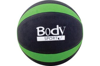 (2.7kg, Green) - Body Sport Medicine Balls with Exercise Guide