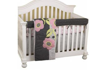 (Poppy) - Cotton Tale Designs Front Crib Rail Cover Up Set, Poppy