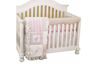(Heaven Sent Girl) - Cotton Tale Designs Front Crib Rail Cover Up Set, Heaven Sent Girl
