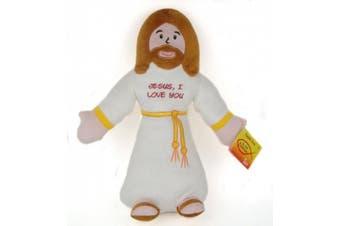 36cm Jesus, I Love You Huggable Jesus Plush Doll Toy with John 3:16 on Bottom
