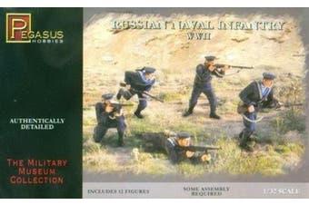 Russian Naval Infantry WWII (12) (Plastic Kit) 1-32 Pegasus