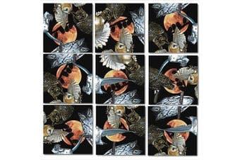 B Dazzle Owls Scramble Squares 9 Piece Puzzle