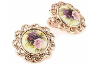 1928 Jewellery Manor House Rose Gold-Tone Clip-On Earrings