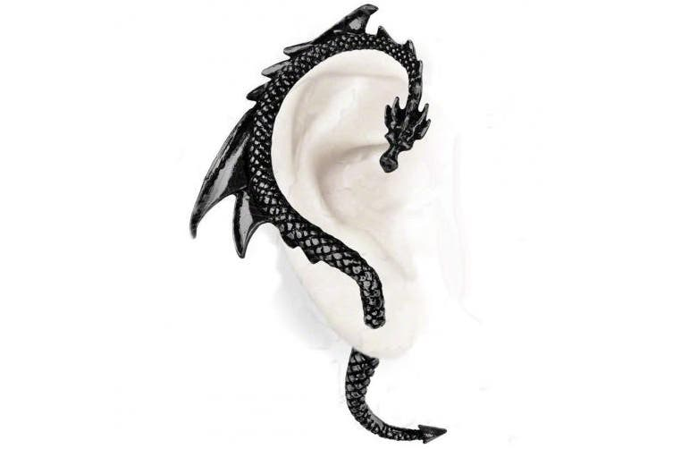 "(Black) - The Dragon Lure ""Black"" Earring by Alchemy Gothic, England"