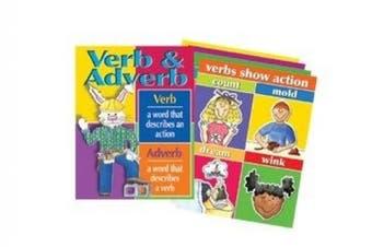 Verbs & Adverbs Chart Set