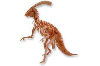 3-D Wooden Puzzle - Large Parasaurolophus -Affordable Gift for your Little One! Item #DCHI-WPZ-BJ-015