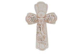 (19cm , 1st Communion) - First Communion Boxed Cross, Ivory Resin, 19.1cm