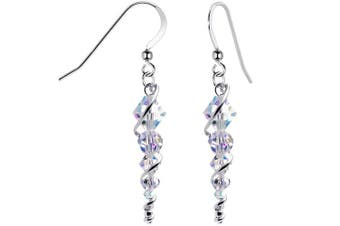 Body Candy Handcrafted 925 Silver Icicle Drop Earrings Created with Crystals