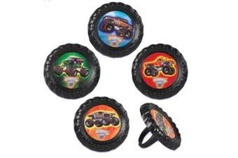 Monster Truck Jam Cupcake Rings - 12 ct