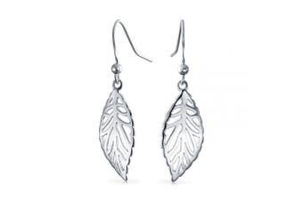 Bling Jewellery 925 Sterling Silver Filigree Nature Leaf Dangle Earrings