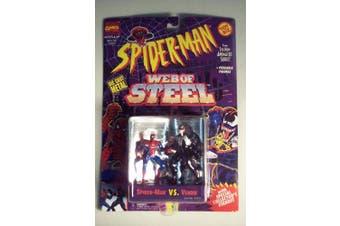 Spiderman Web Of Steel Die Cast Metal Collectible Figures - Spiderman vs Venom