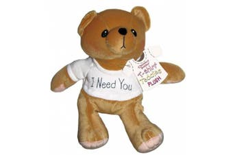 Cherished Teddies I Need You White T-shirt Plush Teddy Bear By Artist Priscilla Hillman # 505390 - 20cm Tall