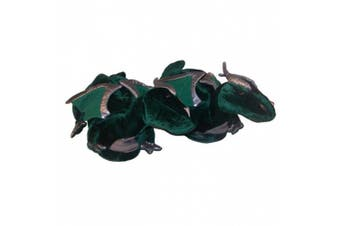 (Youth Large (2 - 3.5), Green) - Comfy Feet Dragon Animal Feet Youth Slippers