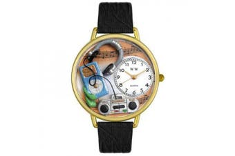 Whimsical Watches Unisex Music Lover Watch in Gold
