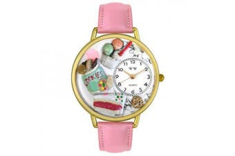 Whimsical Watches Unisex Dessert Lover Watch in Gold
