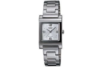 Casio Women's Casual Square Watch, White