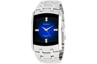 (Silver/Blue) - Armitron Men's .  Crystal-Accented Silver-Tone Blue-Degrade Dial Dress Watch