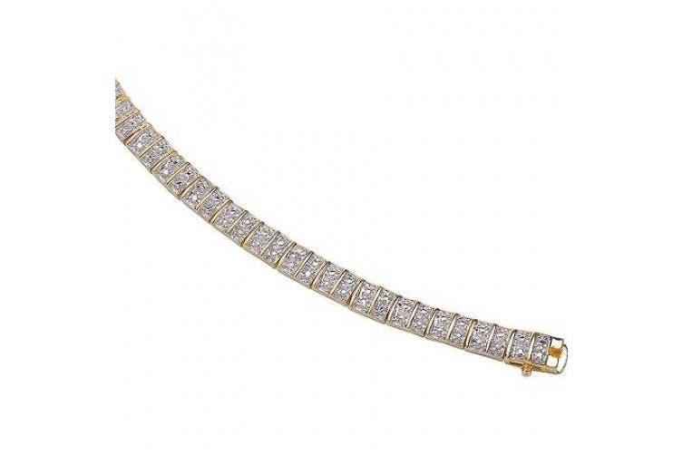 Diamond Accent 14kt Gold-Plated Tennis Bracelet, 20.3cm