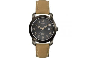 (Tan/Black) - Timex Men's Elevated Classics Black Dial Watch, Tan Leather Strap