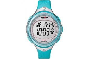 Timex Women's Ironman Clear View 30-Lap Watch, Blue Resin Strap