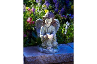 Moonrays 91338 Solar Powered LED Angel with Dove Statue