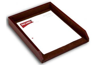 (Mocha) - Dacasso Mocha Leather Letter Tray, 34.59 x 26.97 x 5.08 cm