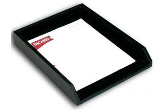 (Black) - Dacasso A1001 Leather Front-Load Letter Tray