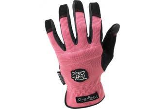 (Large) - Ironclad Performance Wear Large Womens TUFF CHIX Landscaper Work Gloves TCX-2