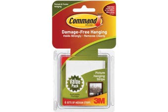 Command Fasteners 1.4kg. Medium Picture Hanging Strips 17204