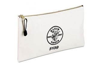 Tool Bags: Klein Tools Tool Bags 30cm - 1.3cm . Canvas Zipper Bag White 5139