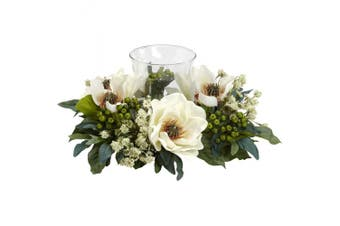 Nearly Natural 4794 Magnolia Candelabrum Silk Flower Arrangement