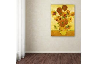 "Trademark Fine Art ""Vase with Sunflowers"" by Vincent Van Gogh, 14x19"