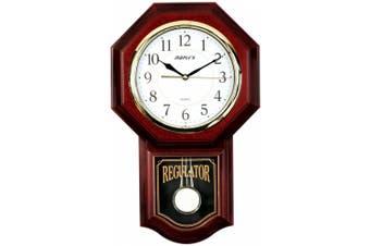 Maple's Plastic Wall Clock with Pendulum