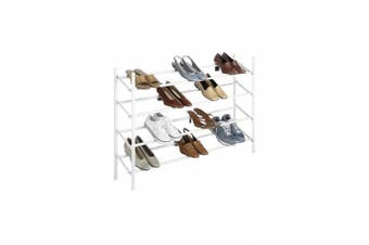 Whitmor 6023-210 Expandable And Stackable Shoe Rack, White, New,  .