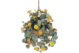 Nearly Natural 6025 Nasturtium Silk Hanging Basket